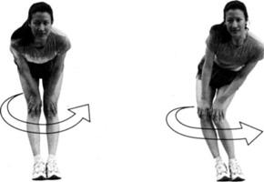 круговые движения коленями