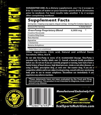 KreaPump Xcel Sports Nutrition состав