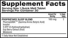 Top Secret Nutrition Sleep - состав