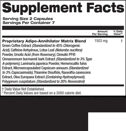 Top Secret Nutrition XAT-7 Fat Burner Extreme  - состав