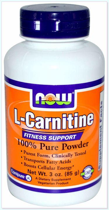 NOW Sport Nutrition L-Carnitine Pure Powder