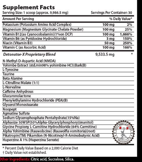 Xcel Sports Nutrition Detonator X состав