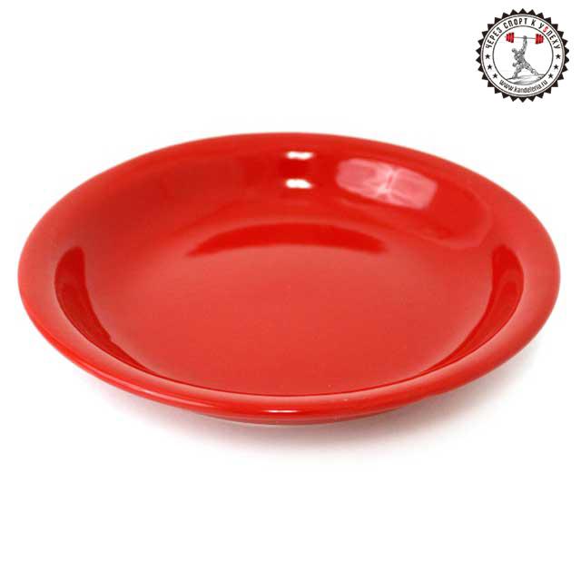 Ешьте вредную пищу из красной тарелки