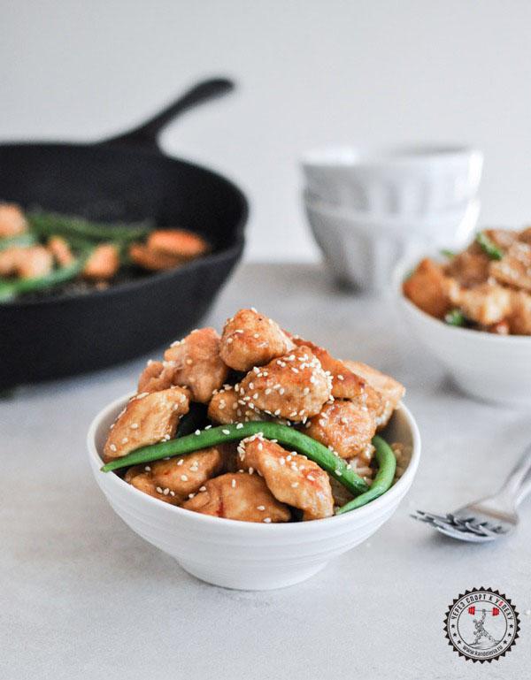 Простой рецепт курицы с кунжутом