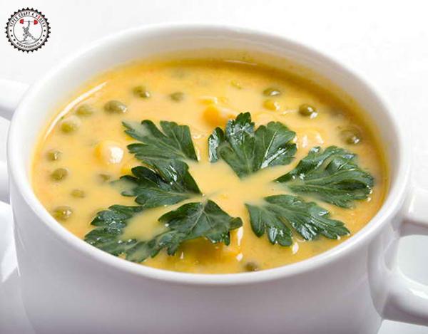 Итальянский суп с горошком