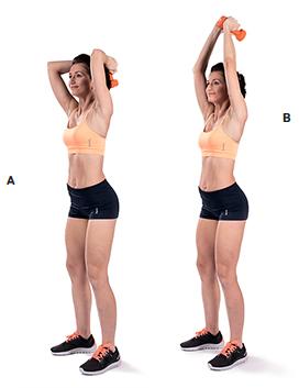 Упражнения с гантелями для подтяжки рук для женщин видео